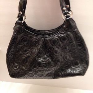 COACH - small maggie, patent embossed leather